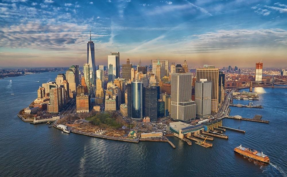 Manhattan skyscrapers view